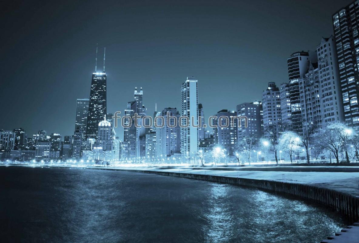 Обои здания, города мира, освещение, ночной город, красота, ночь, набережная. Города foto 10